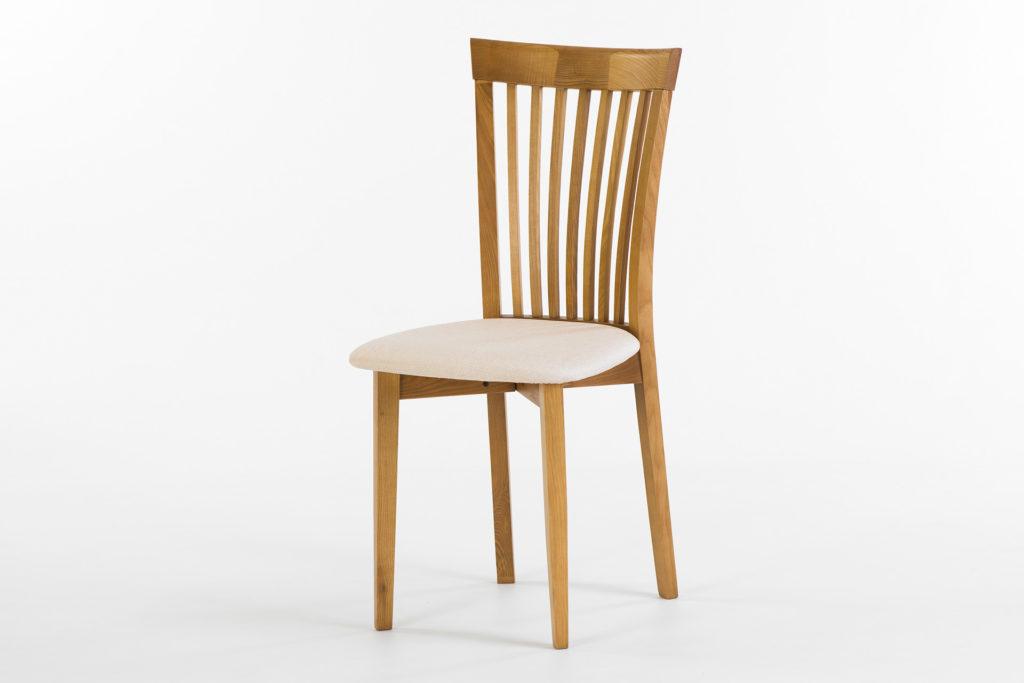 Кухонный деревянный стул 07М с мягкой сидушкой от производителя • OLEKSENKO Столы и Стулья •