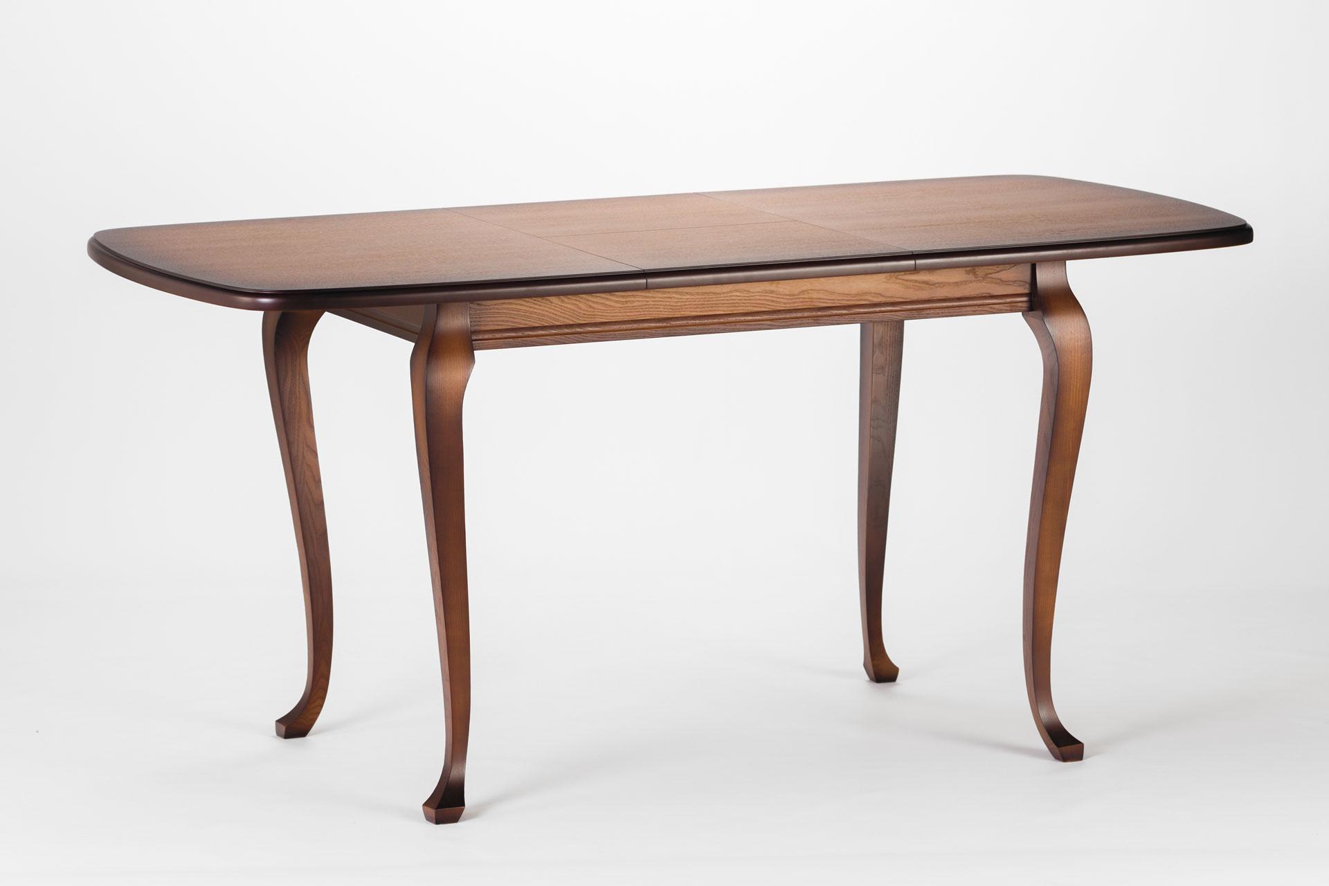 Деревянный кухонный стол Людовик, тонированный, разложенный
