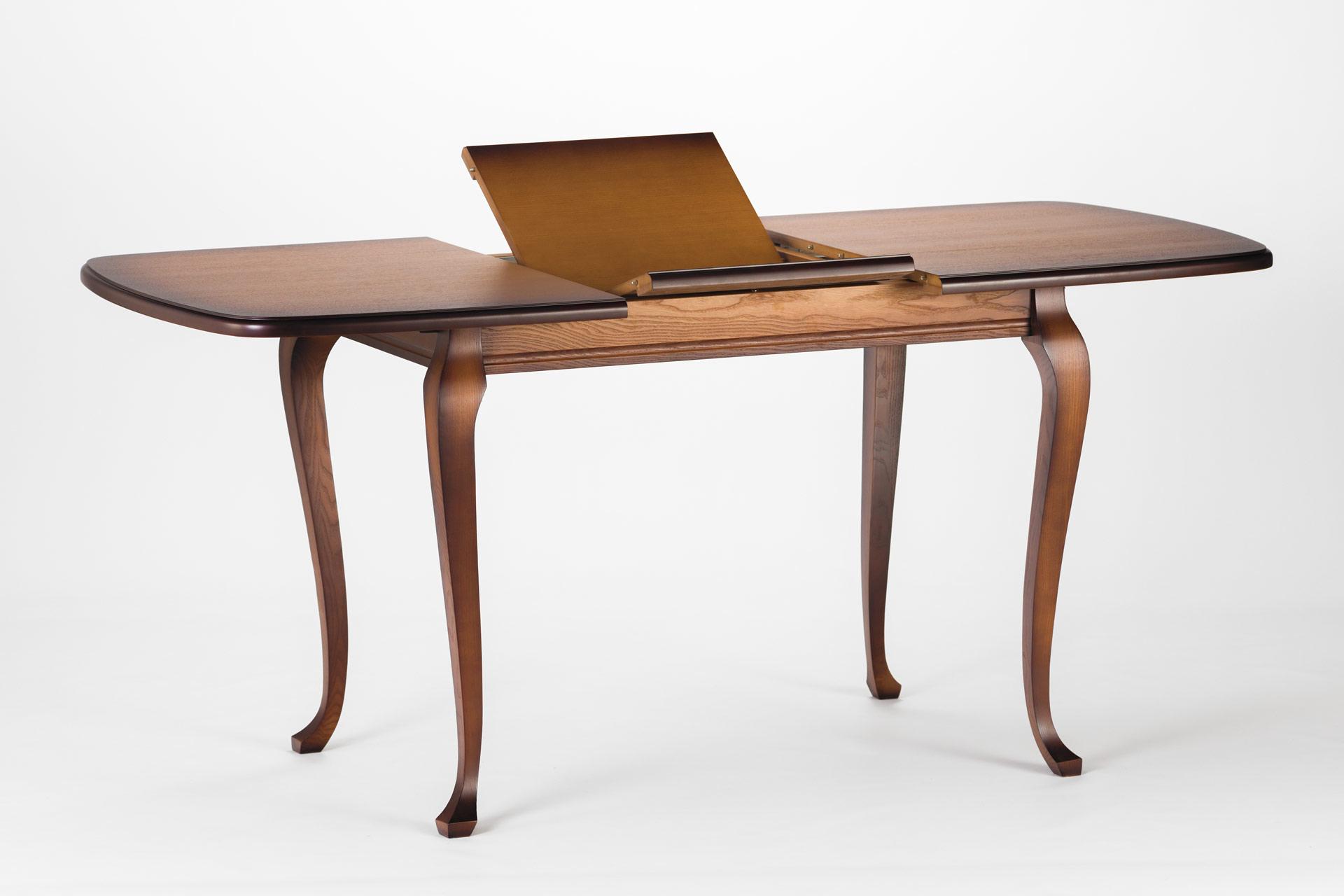 Деревянный кухонный стол Людовик, тонированный, механизм раскладки книжка