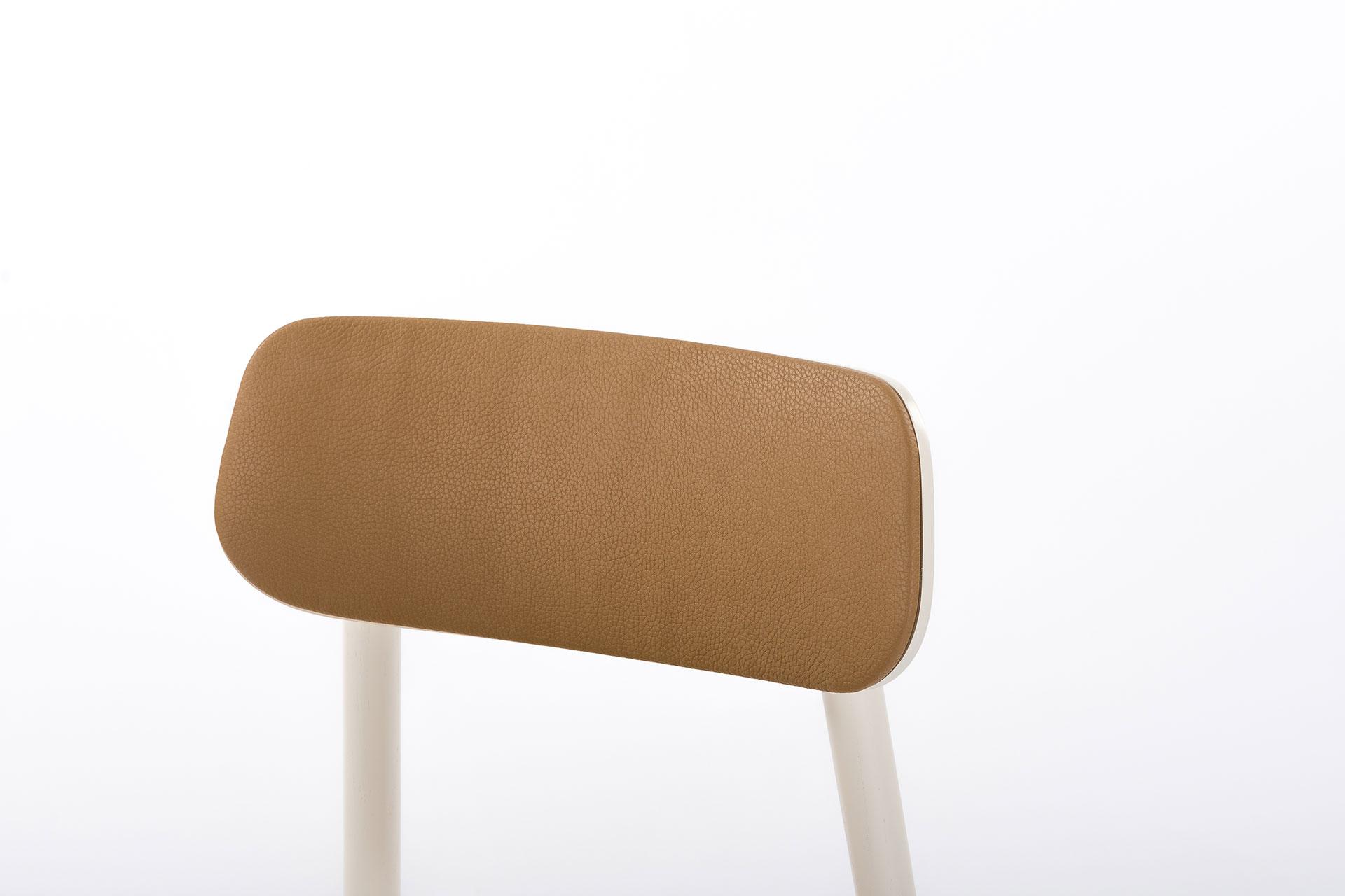 Спинка кухонного стула Х, с мягкой оббивкой коричневого цвета