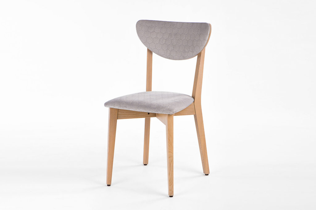 """Кухонный стул """"S"""" c мягкой спинкой и сиденьем, оббивка из микроверюра • OLEKSENKO Столы и Стулья •"""