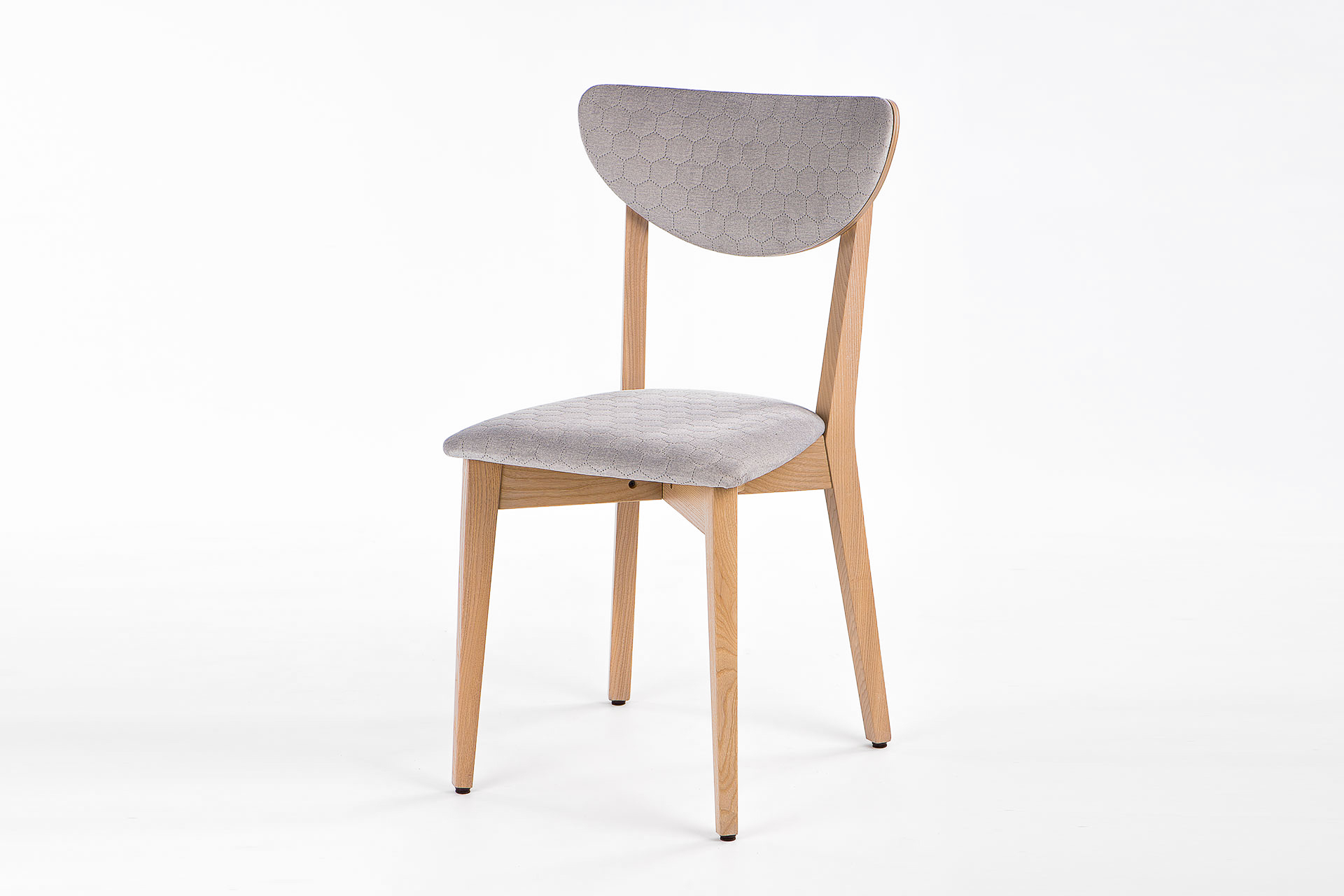 """Кухонний стілець """"S"""" з м'якою спинкою та сидінням, обивка з мікровелюру • OLEKSENKO Столи та Стільці •"""