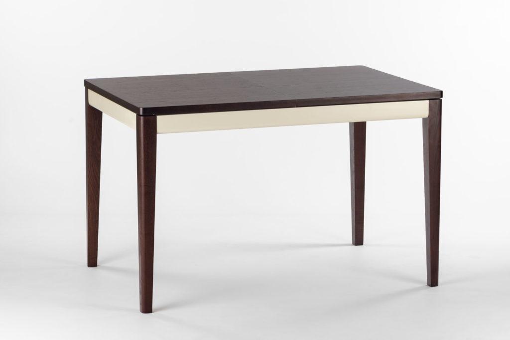 """Раскаладной кухонный стол """"Фишер"""" с коричневой шпонированной столешницей (SE 7108) • OLEKSENKO Столы и Стулья •"""