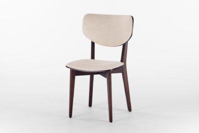 Кухонный стул 03А с мягкой спинкой и сиденьем с искусственной замши Apparel Сanna 01 • OLEKSENKO Столы и Стулья •