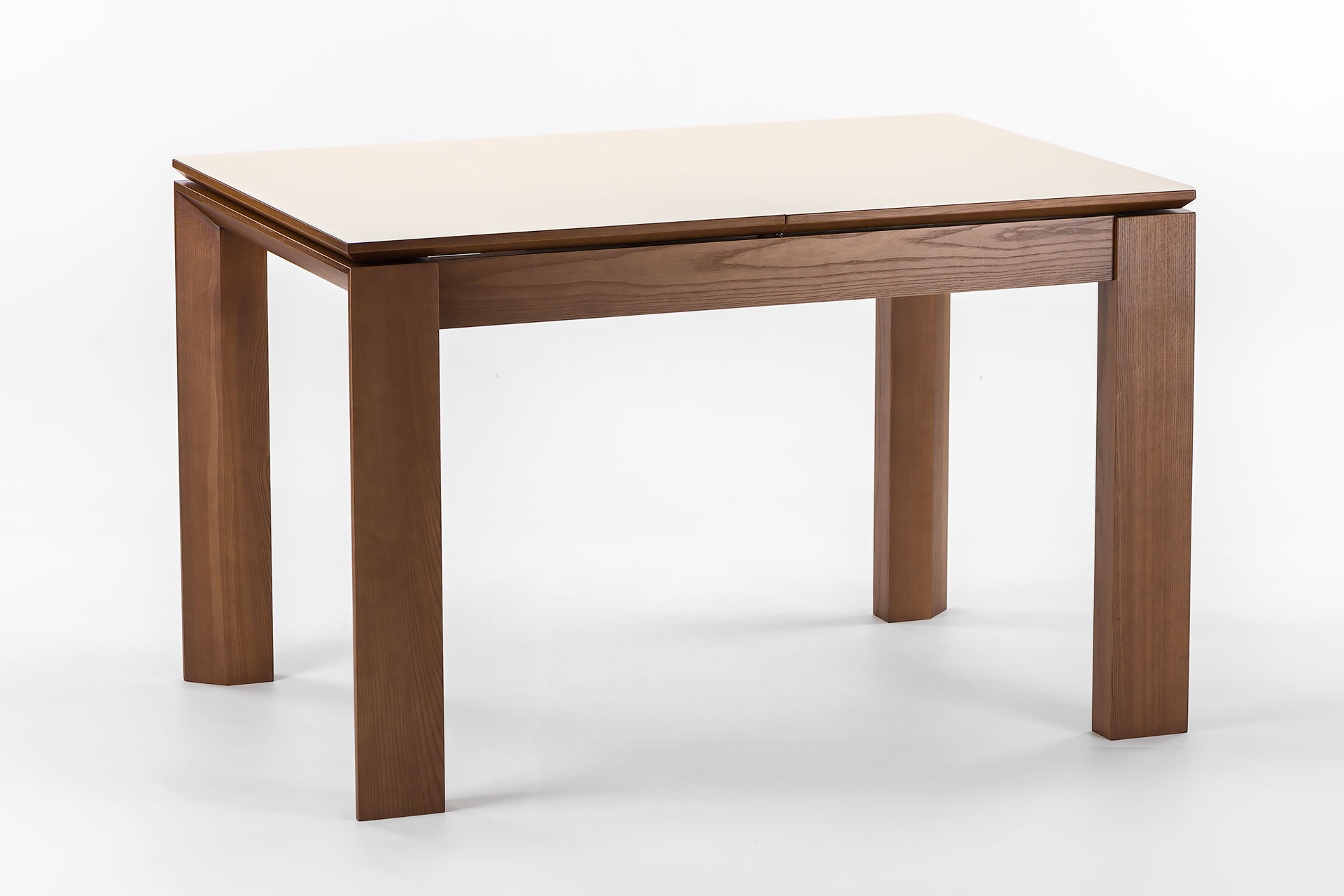"""Раскладной кухонный стол """"Милан-люкс"""", цвет SE7031, столешница с матовым стеклом"""
