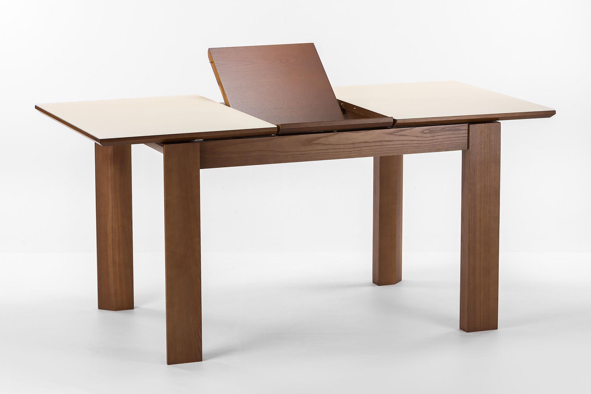 """Раскладной кухонный стол """"Милан-люкс"""", цвет SE7031, раскладная столешница с матовым стеклом, тонирована вставка столешницы"""
