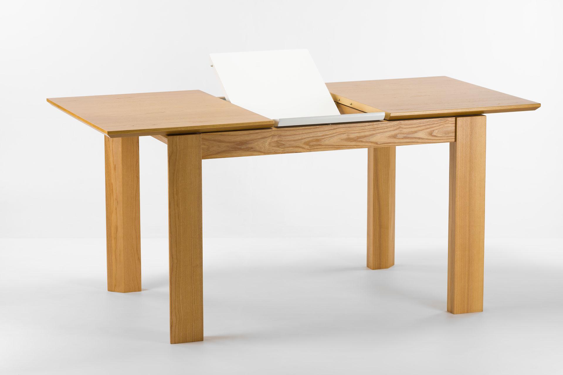 """Кухонный стол """"Милан-люкс"""" со шпонированной столешницей SE1405 и белой вставкой"""