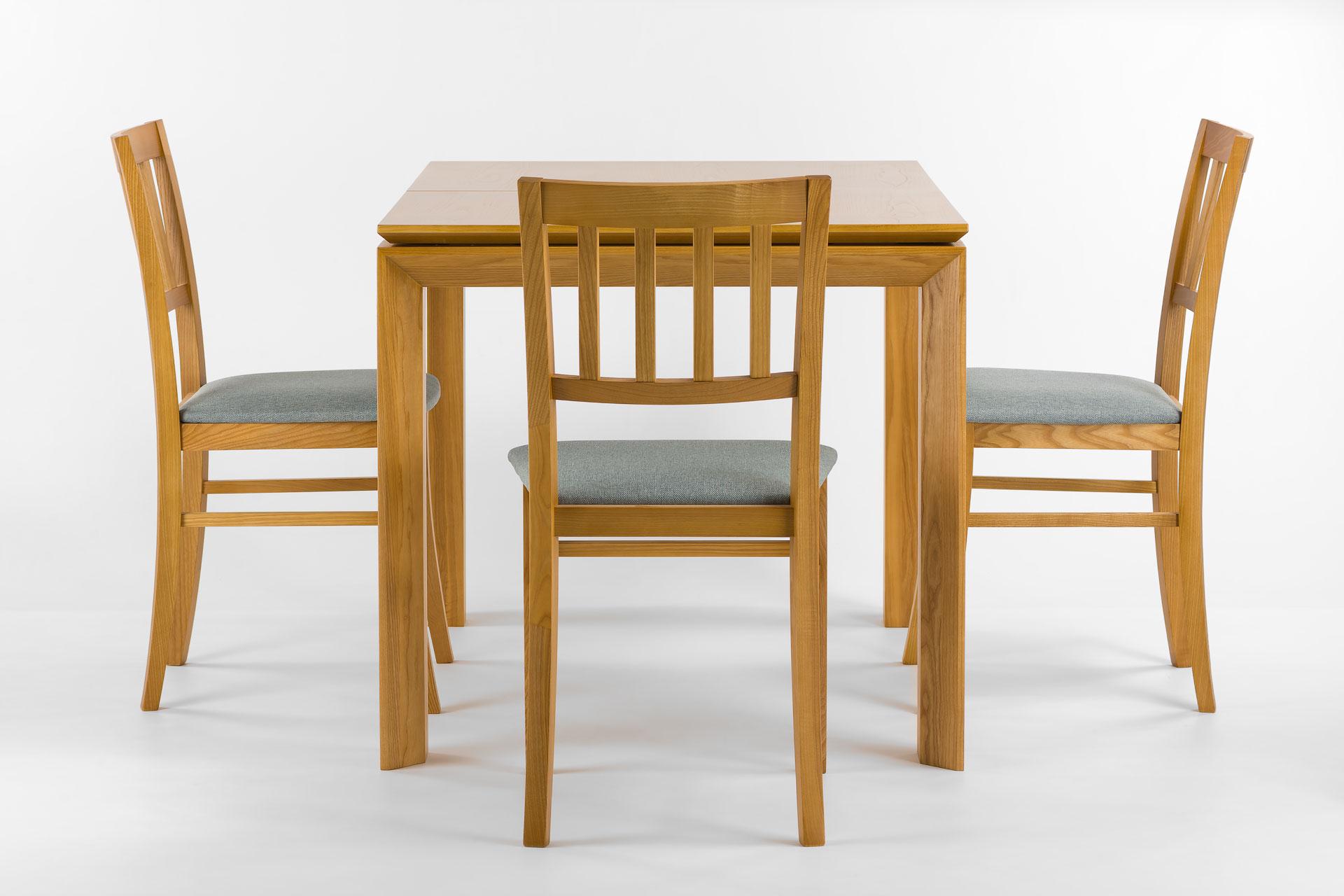 """Кухонный стол """"Милан-люкс"""" со шпонированной столешницей SE1405 и белой вставкой + стулья"""
