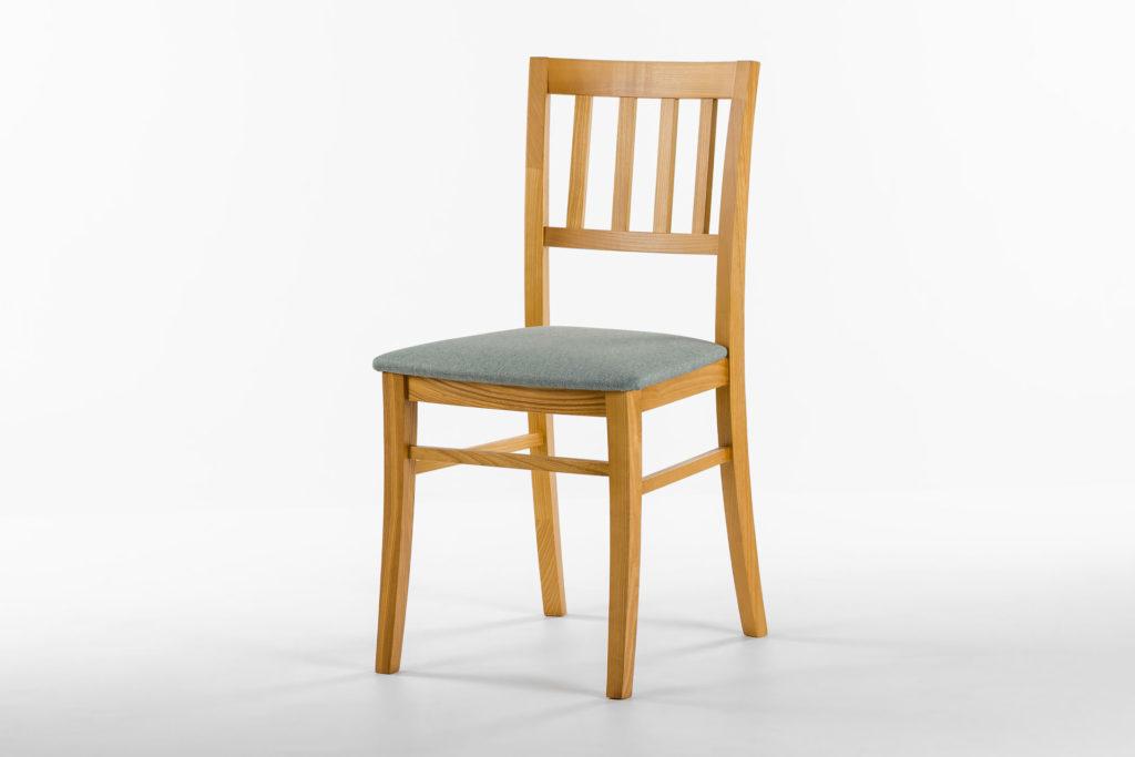 Кухонний стілець 08МВП з м'яким сидінням лазурного кольору, обивка рогожка Exim MALMO CADETBLUE 72 • OLEKSENKO Столи та Стільці •
