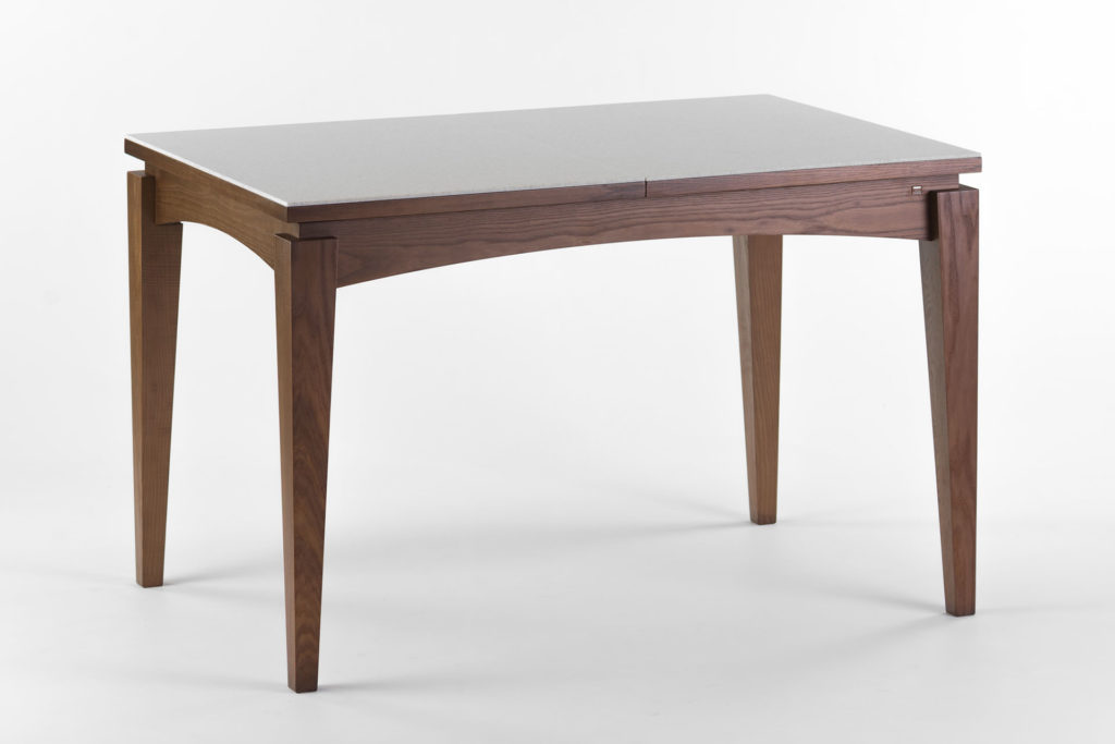 """Розкладний кухонний стіл """"Бруклін"""" зі стільницею з штучного каменю. Тверде дерево"""