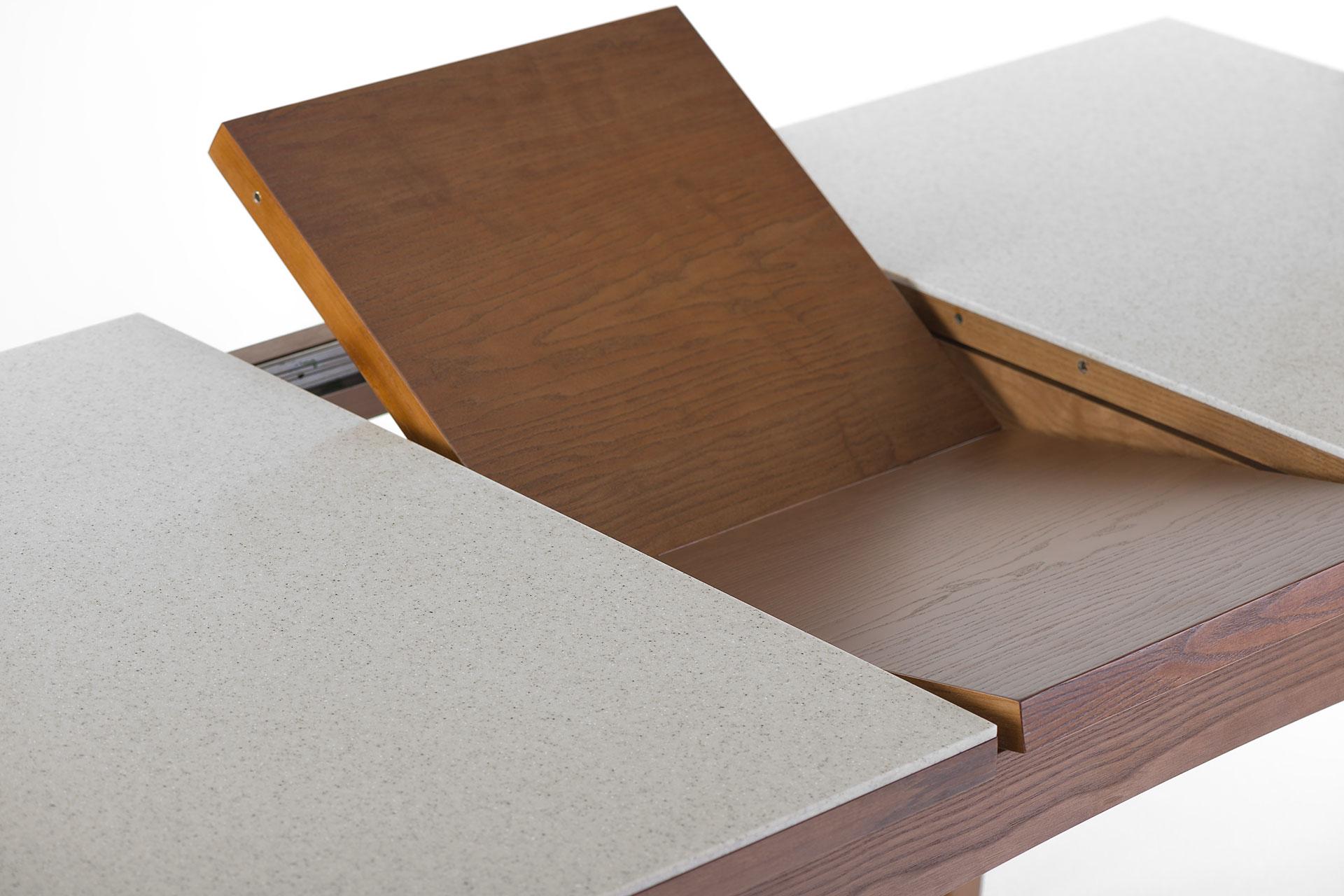 """Раскладной кухонный стол """"Бруклин"""" с механизмом раскладки, вставка тонирована SE-7034. Твердое дерево"""