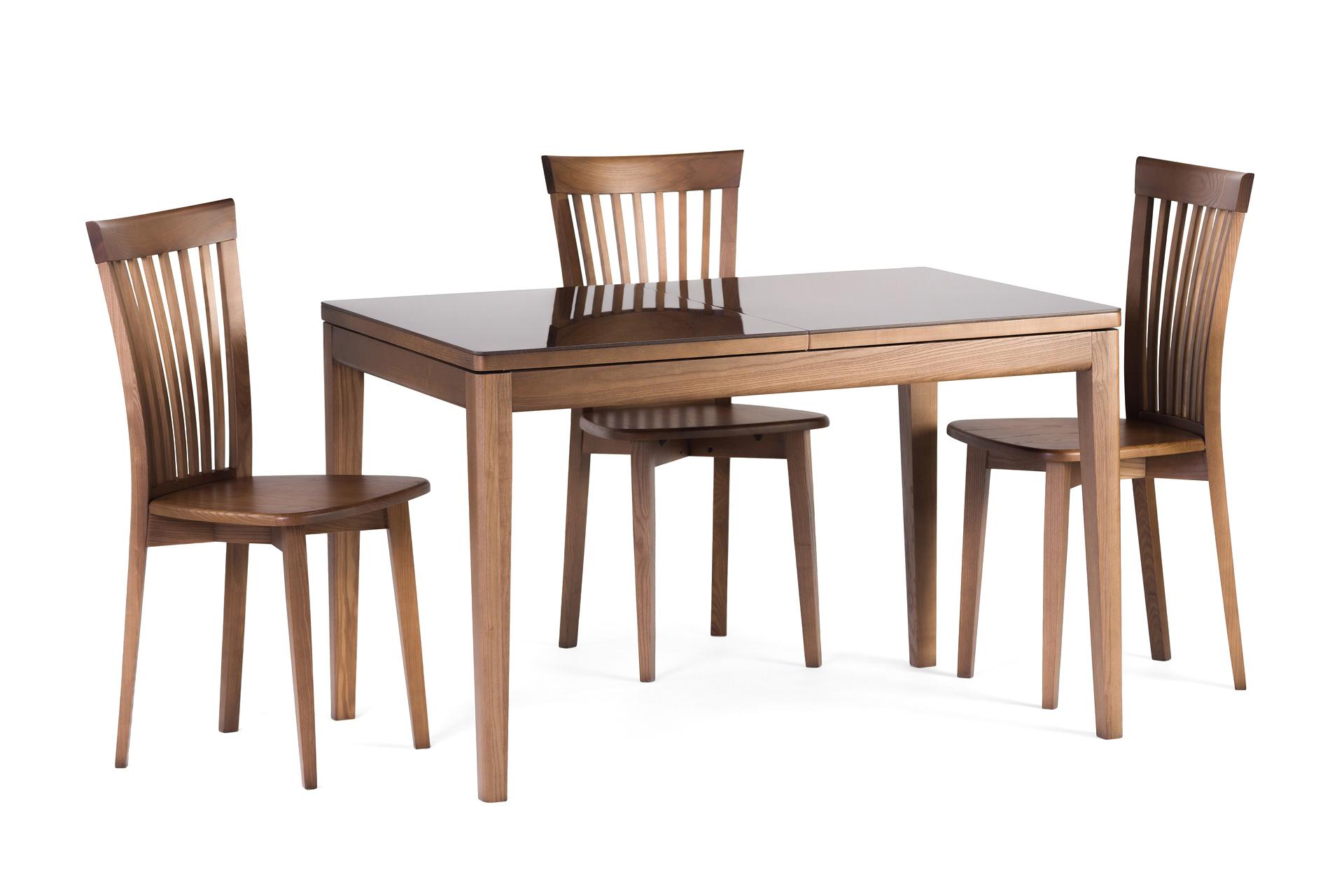 """Обідня група, кухонний комплект: стіл """"Фішер"""" розкладна стільниця з каменю + 4 стільці 07Т з твердим сидінням та спинкой"""