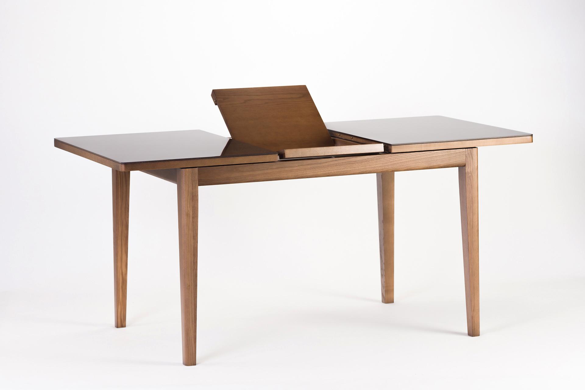 """Кухонный стол """"Фишер"""" с раскладной каменной столешницей, тонировка SE-7031, механизм раскладки"""