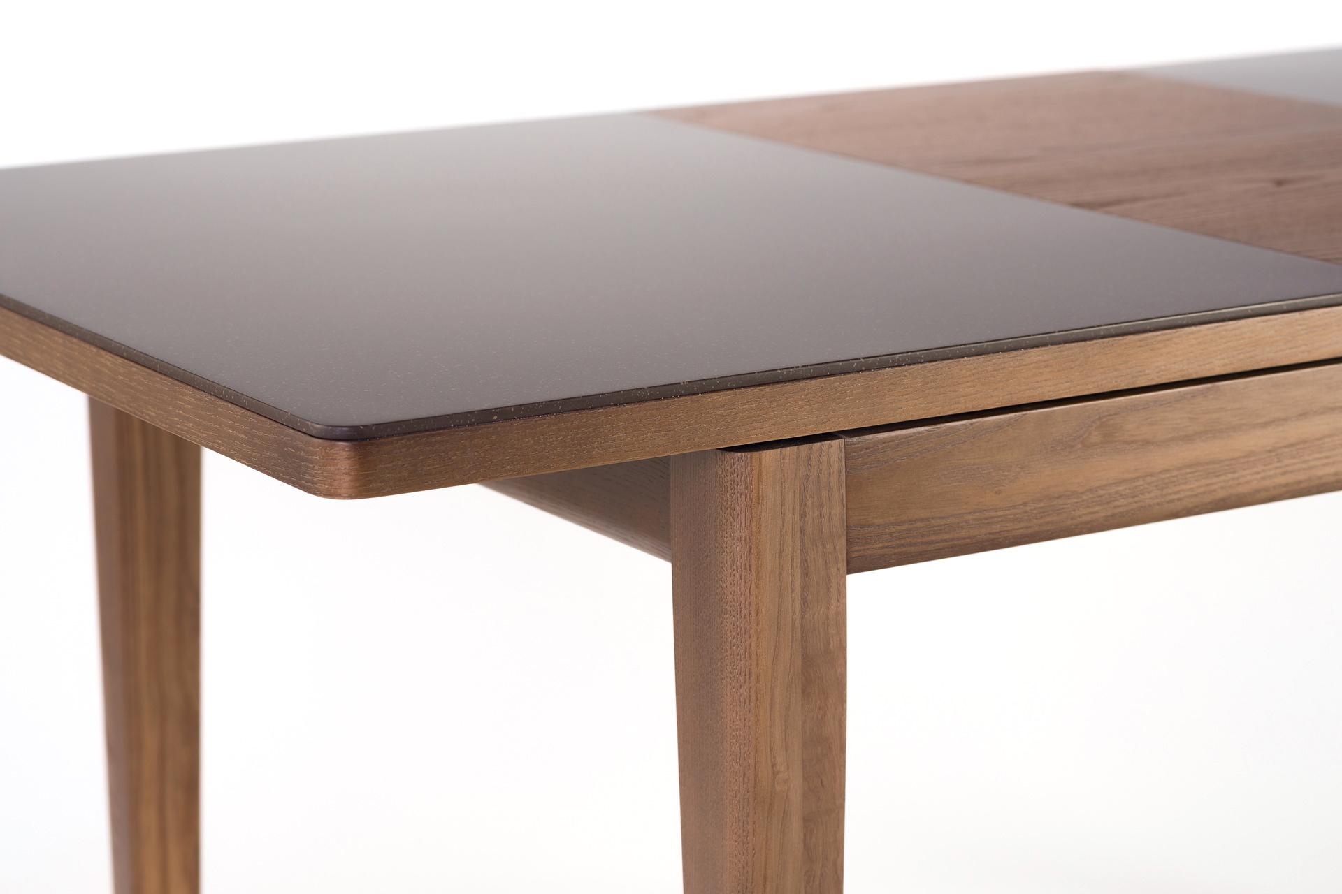 """Кухонный стол """"Фишер"""" угол столешницы с искусственным камнем"""