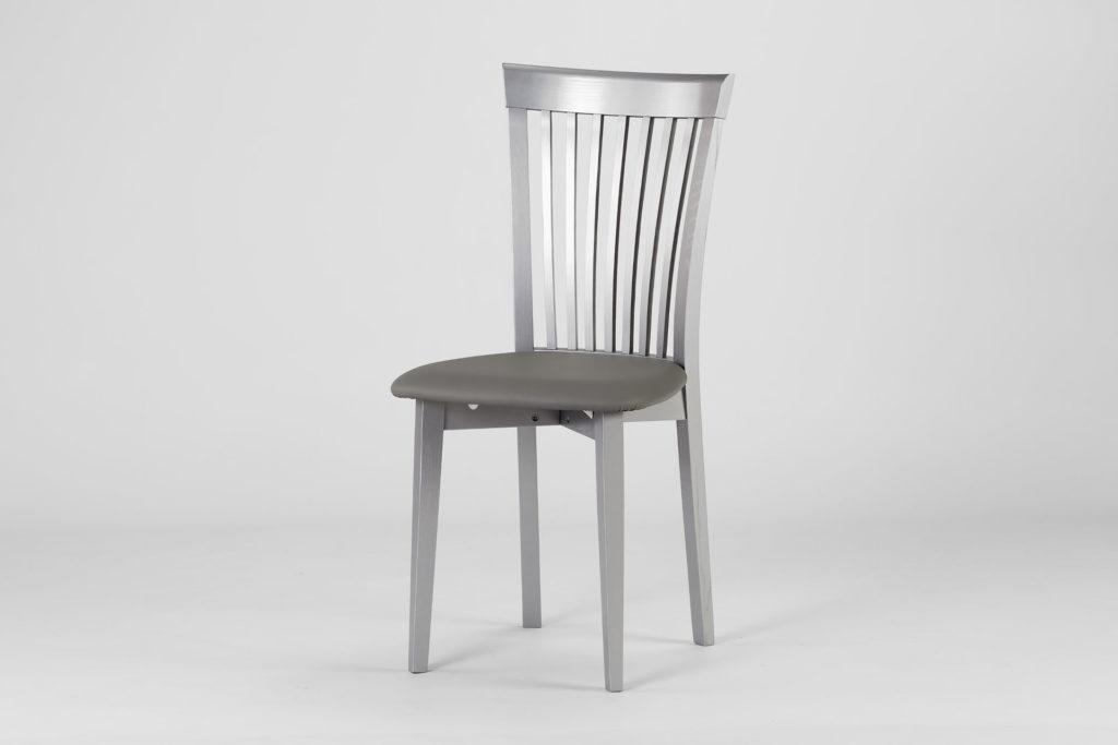 """Кухонний стілець """"07М"""" з м'яким сидінням, обивка зі штучної шкіри Exim SOFITEL 04 Snow Storm • OLEKSENKO Столи та Стільці •"""