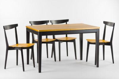 """Обеденная группа, кухонный комплект: раскладной кухонный стол """"Фишер"""" + 4 стула 04ФТ с твердым сиденьем"""