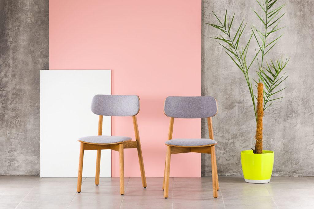 """Кухонний стілець """"X"""" з м'яким сидінням та спинкою, обивка рогожка Exim Marakesh 09 • OLEKSENKO Столи та Стільці •"""