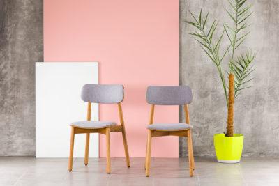 """Кухонный стул """"Х"""" с мягким сиденьем и спинкой, оббивка рогожка Exim Marakesh 09 • OLEKSENKO Столы и Стулья •"""