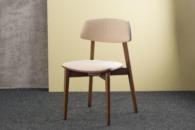 """Кухонный стул """"Орто обновленный"""" - мягкое сиденье и спинка, бежевая обивка рогожка Unitex Madrid 3"""