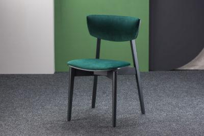 """Кухонный стул """"Орто"""" с зеленой велюровой обивкой (Exim Жасмин 38)"""