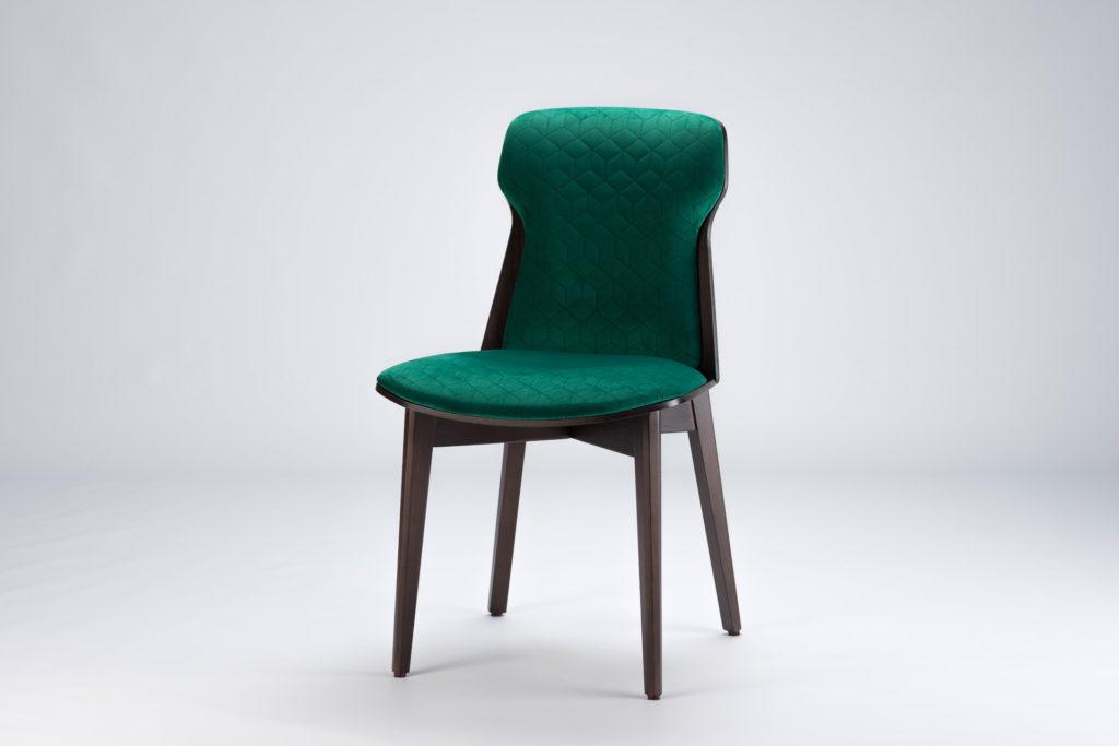 """Кухонный стул """"Леман"""" с мягкой спинкой и сиденьем, темно-зеленая велюровая обивка Magic Velvet 2225"""