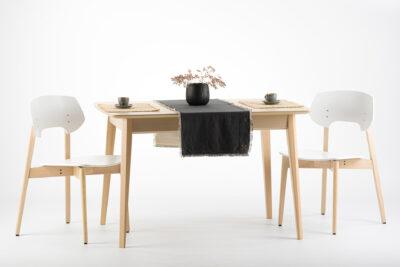 """Комплект: прямоугольный стол """"Венти-орто"""" шпонированная столешница + 4 стула """"Корса"""" с твердым сиденьем и спинкой • OLEKSENKO Столы и Стулья •"""