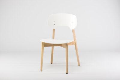 """Кухонный стул """"Корса"""" - твердое сиденье белого цвета • OLEKSENKO Столы и Стулья •"""