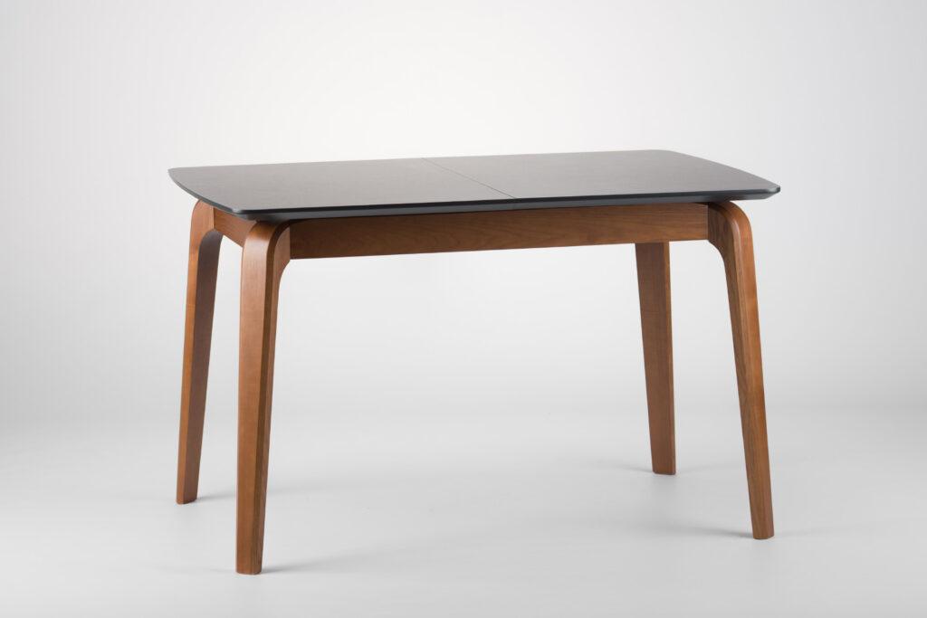 """Прямокутний кухонний стіл """"Спейс"""" - розкладна стільниця HPL F242 ST10 Юрський Антрацит • OLEKSENKO Столи та Стільці •"""