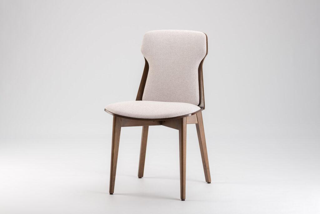 "Кухонный стул ""Леман"" бежевая обивка рогожка Fabric Lab Admiral 17 • OLEKSENKO Столы и Стулья •"